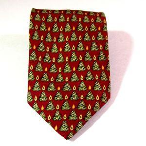 Christmas Tie Christian Tyler 100% Silk England